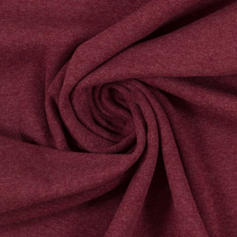 Swafing- Marled Smooth Ribbing -  Bordeaux- sold per 10cm x 95cm