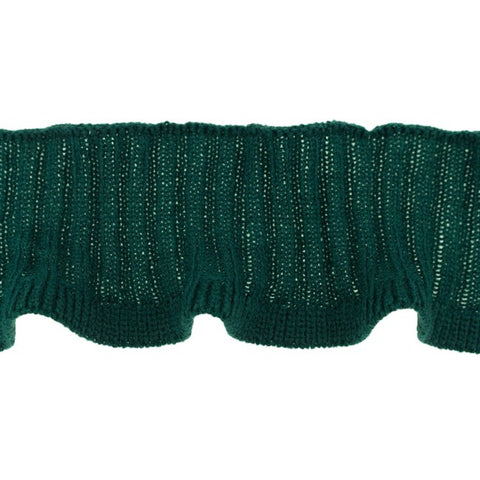 Happy Elephant Knitted Ruffle  Cuff -Bottle- per m x 7cm wide