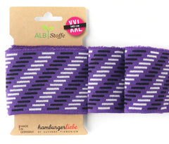 Hamburger Liebe- Organic Knit Ribbing CUFF ME Icon - Aubergine- 8cm high x 140cm pack