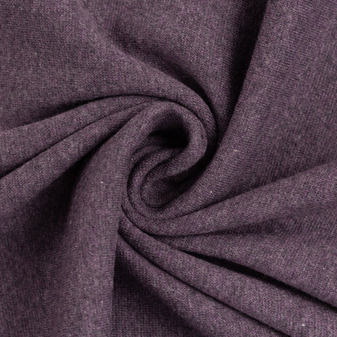 Swafing- Marled Smooth Ribbing -  Violet- sold per 10cm x 95cm