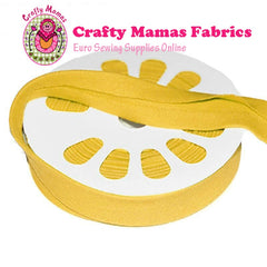 Cotton Elastane Jersey Bias Binding -YELLOW- 50cm x 20mm