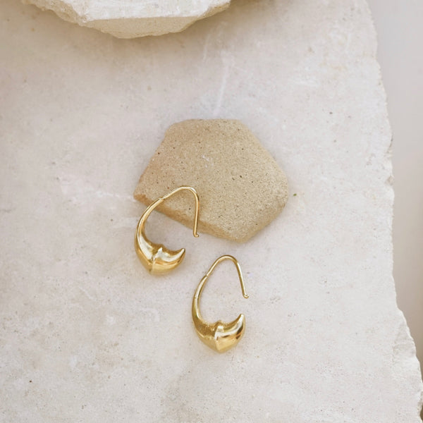 Gold Augury hoop earrings