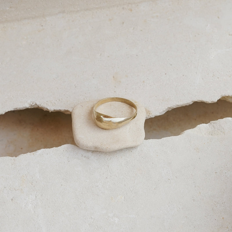Cairo recycled brass bump ring.