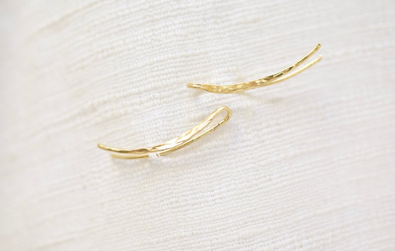 14k gold vermeil Denali ear climber earrings