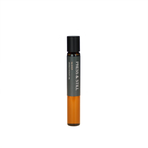 Sleep aromatherapy oil (0.33 fl oz/10 ml). Organic jojoba exquisitely scented with sweet marjoram, chamomile, lavender and sandalwood essential oils.