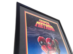 1994 Super Metroid Poster signed Nintendo Power