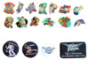 Vintage Street Fighter Pins Buttons Badges