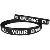 "Combo Point ""All your base are belong to us"" Black Wristband"