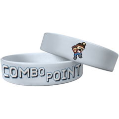 "Combo Point ""The Fighter"" Light Blue Wristband - 1"" Large"