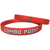 "Combo Point ""The Fighter"" Red Wristband - 1/2"" Large"