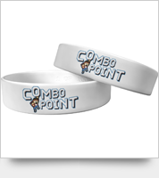 "Combo Point ""Uppercut the O"" White Wristband - 1"" Large"
