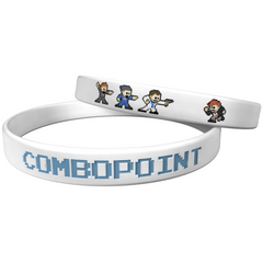 "Combo Point ""Respectable Businessman"" White Wristband"