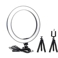 Load image into Gallery viewer, Dimmable LED Selfie Ring Light Witih Tripod