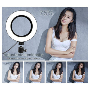 Dimmable LED Selfie Ring Light Witih Tripod