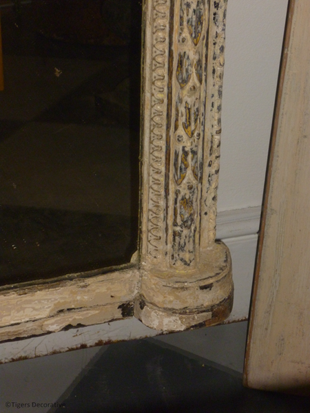 A 19th Century French Painted Mirror