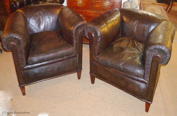Pair Of Early 20th Century Club Chairs