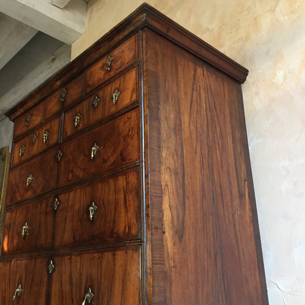 18th Century Walnut Chest On Stand