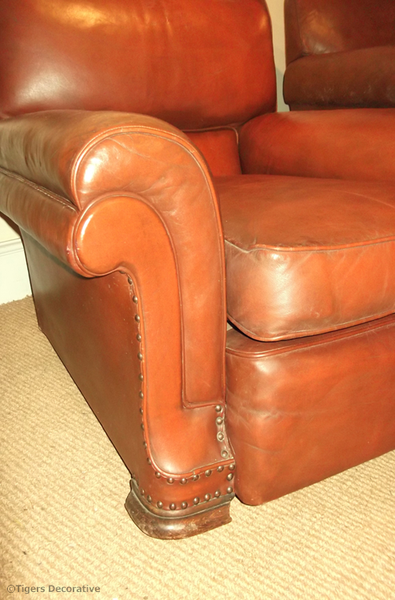 1930s -1940's French Leather Club Chair