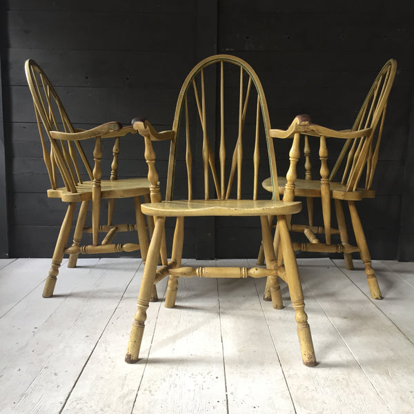 Set Of Three Windsor Chairs