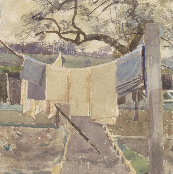 Strawberry Cottage Vegetable Garden,  By Evelyn Dunbar