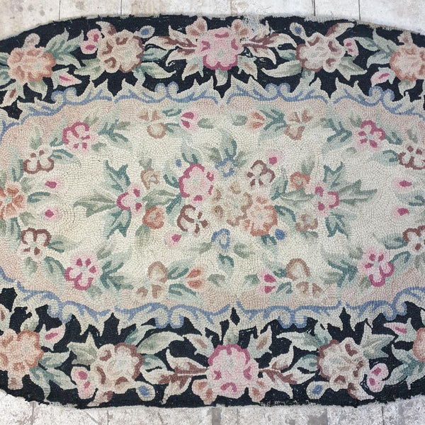 20th Century Oval Rag Rug
