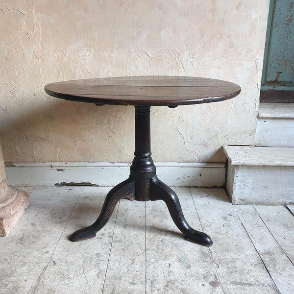 18th Century Oak Tripod Table