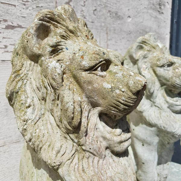 Pair Of Composite Lions