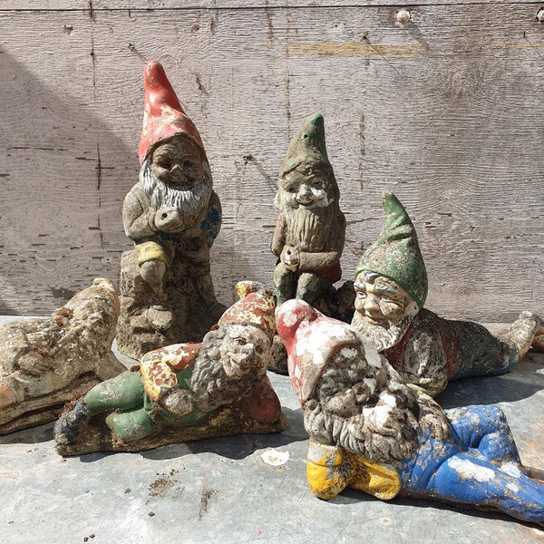 A Set Of Six Gnomes