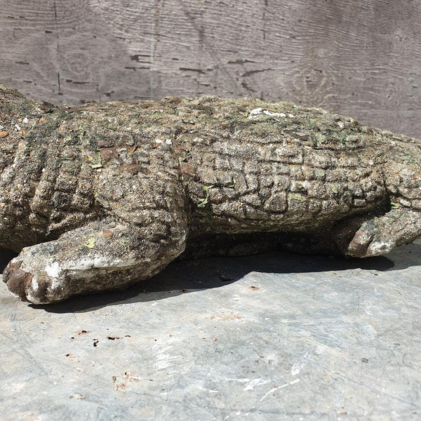 A Painted Crocodile Statue