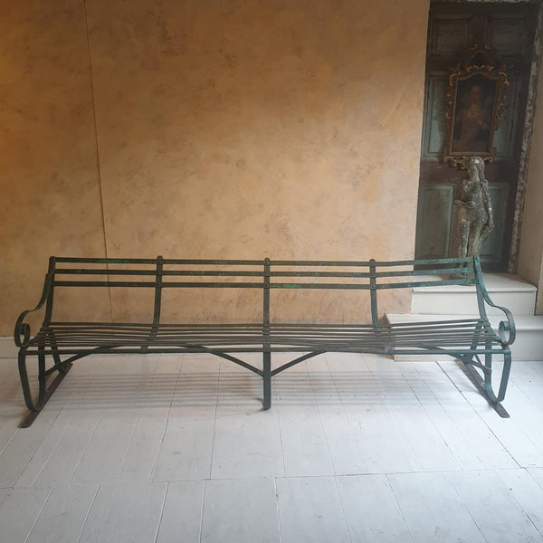 Wrought Iron Scrolled Bench