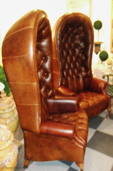 Pair Of Leather Mid To Late 20th Century Porter Chairs