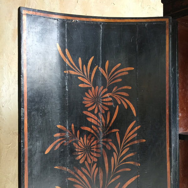 19th Century Chinoiserie Corner Cupboard
