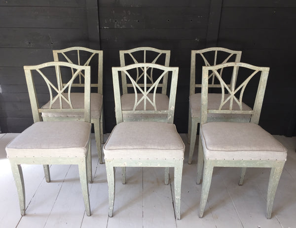 Six Swedish/Danish Dining Chairs