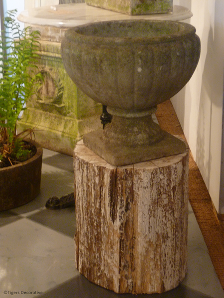 20th Century Composite Stone Fluted Urn