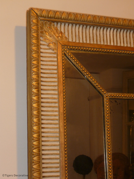 19th Century English Gilt Cushion Frame Mirror