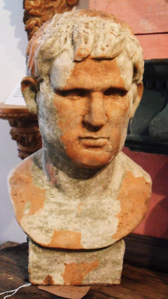 20th Century Terracotta Male Bust