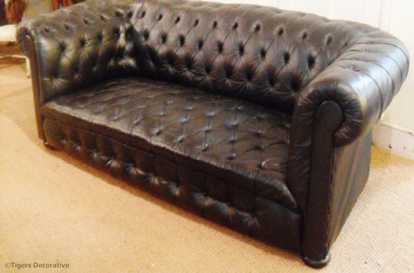 Early 20th Century Leather Chesterfield Sofa