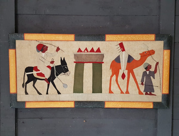 Framed Egyptian Appliqué Panels