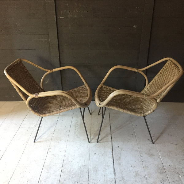 Pair Of Cane Arm Chairs