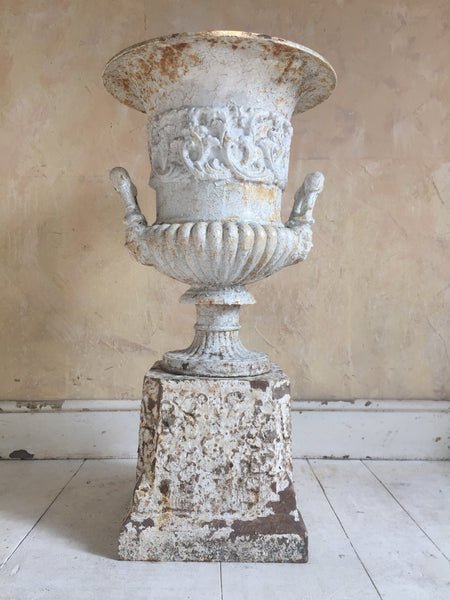 Gadrooned Urn On Plinth