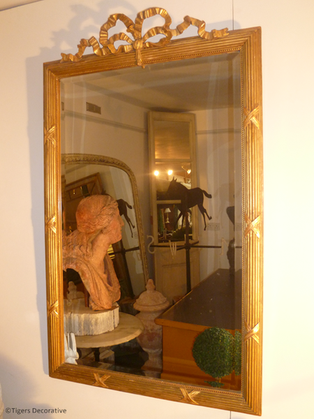 19th Century Gilded French Mirror