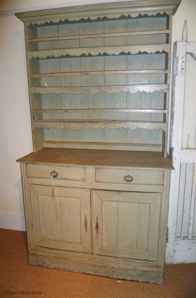 Late 19th Century Painted French Dresser