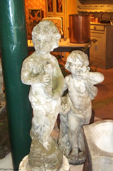 Two 20th Century Composite Stone Statues