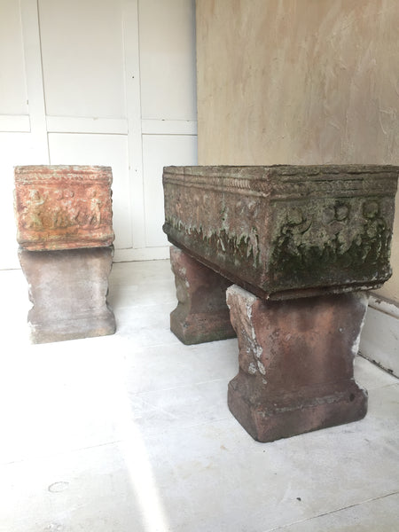 Pair Of Rectangular Planters