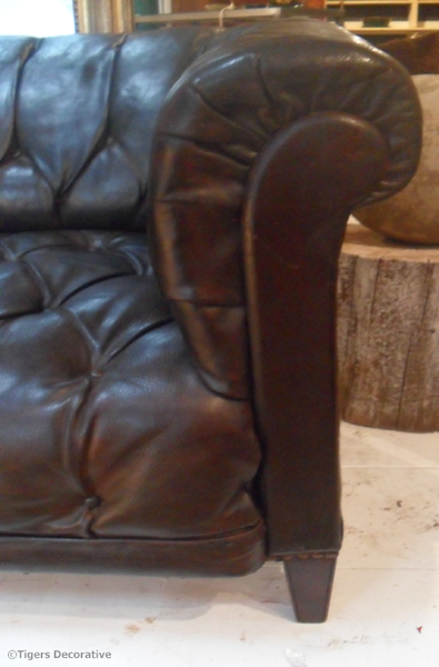 Late 19th - 20th Century Swedish Leather Chesterfield Sofa