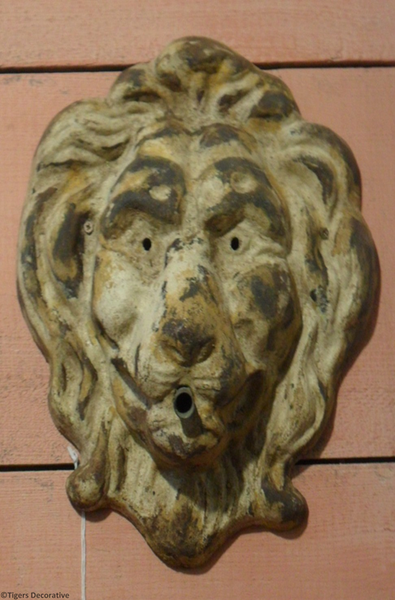 Early 20th Century Lions Head Fountain