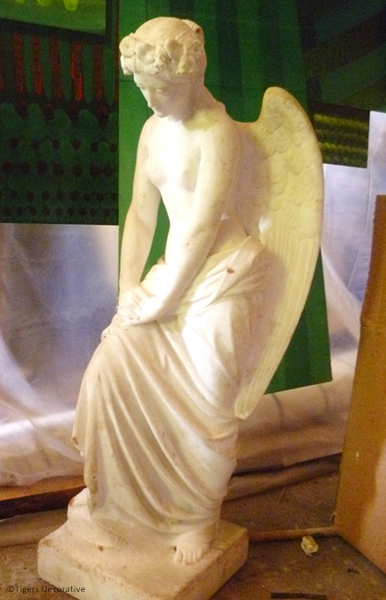 19th Century Marble Angel Sculpture Signed By J.S Westmacot