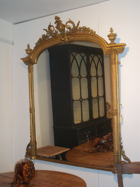 Late 19th Century Gilt Over Mantle Mirror