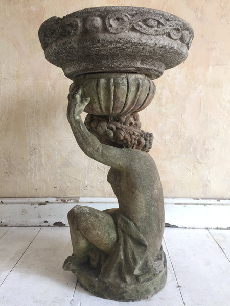 Cherub Bird Bath