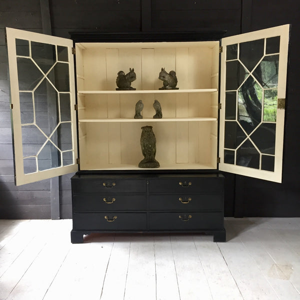 Ebonised Display Cabinet